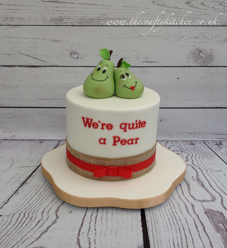 Comical wedding anniversary cake