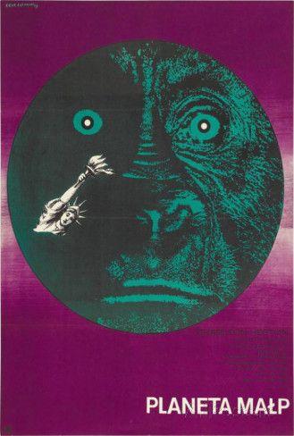 Planet of the apes polish style vintage moviesvintage movie posterspolish