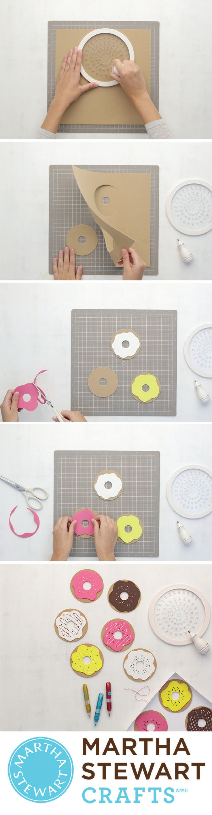 Get your donut fix without the calories using the circle cutter from Martha Stewart Crafts