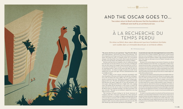 """Gold winner in #Illustrations. """"The Family #Travel Special"""" by Pascal Blanchet published in #Enroute, 2010."""