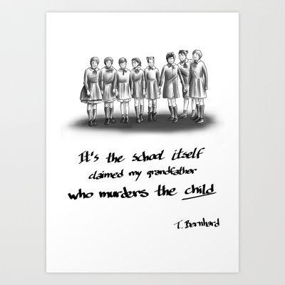 school murders child Art Print Promoters - $14.56
