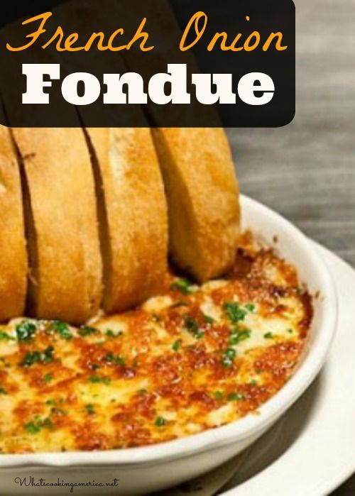 French Onion Fondue Recipe  |  I'm going to serve this in baked acorn squash like Colleen did.