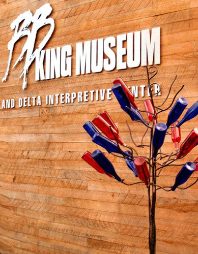 The B. B. King Museum and Delta Interpretive Center is located in the heart of the Mississippi Delta, not far from the famous Crossroads at Clarksdale.