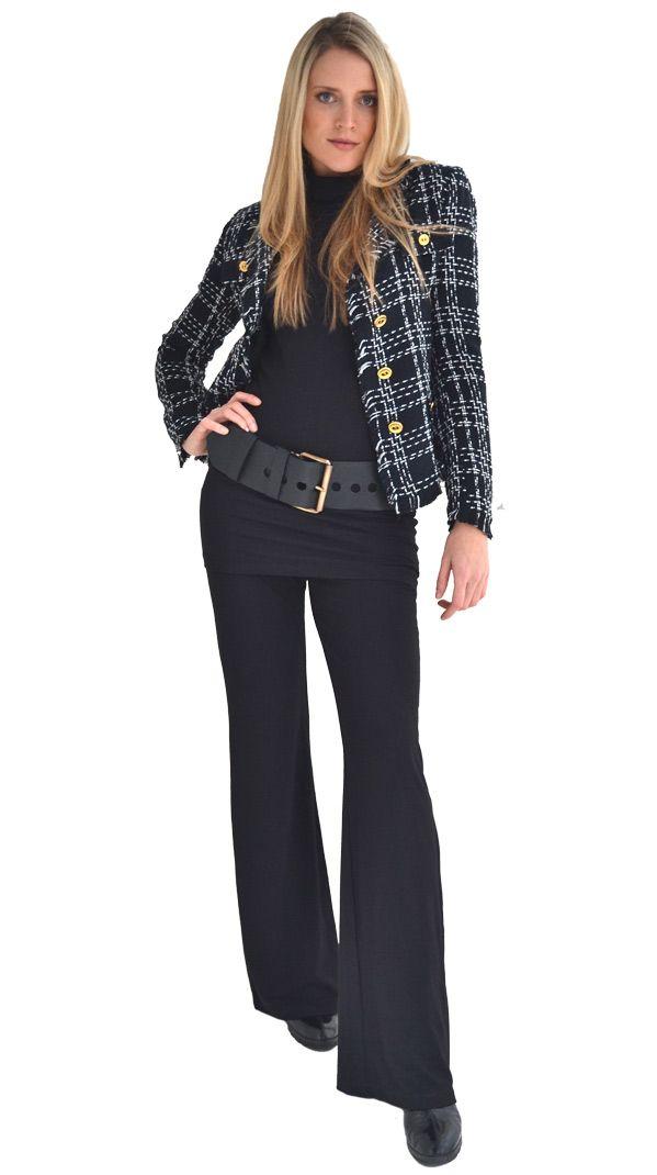 Basic Black : Black & White Chanel jacket | Philosophy clothing - designer clothing for women on the move