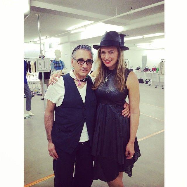 Jenny Chase with legendary Italian designer Saverio Palatella in good Form @jennychaseinc @saveriopalatella
