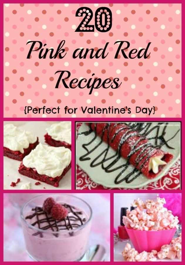 20 Pink and Red Recipes  (Perfect for Valentine's Day) You will love these fun recipes that are pink and red! #sixsistersstuff