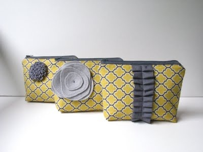 custom wedding bags in yellow and gray by allisa jacobs