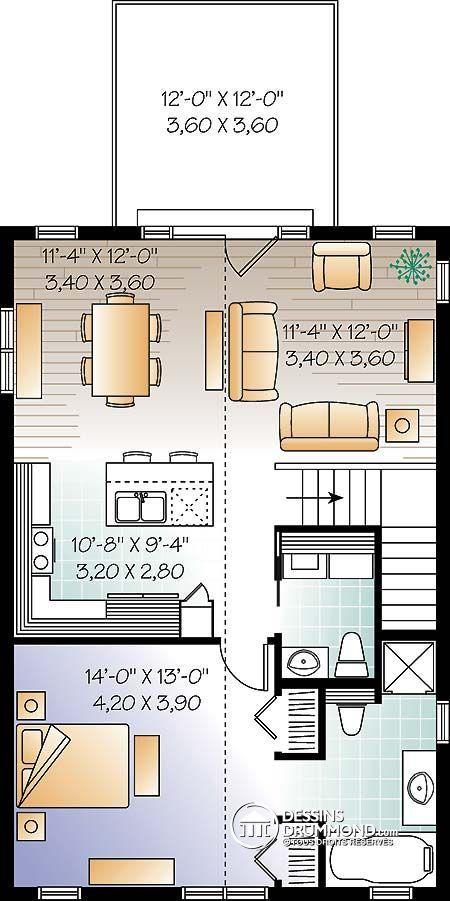 Détail du plan de Maison unifamiliale W3954