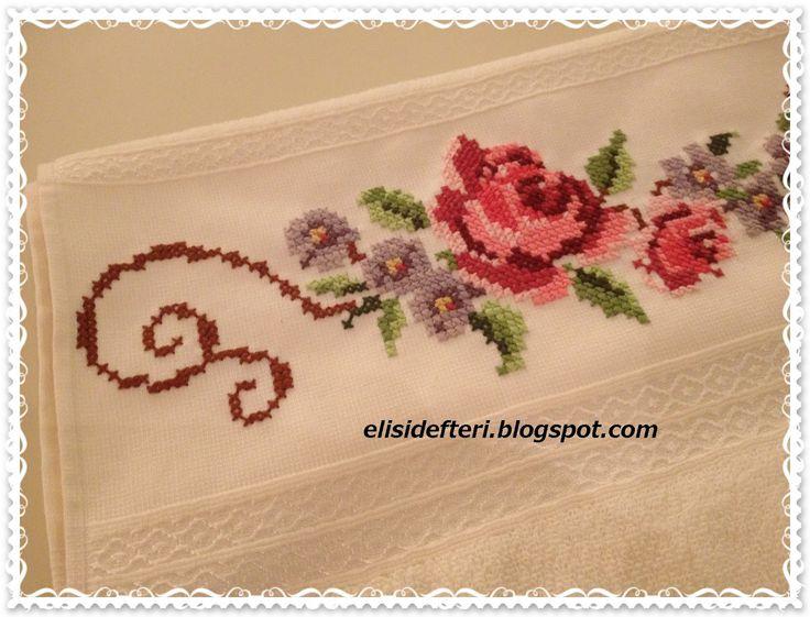 dantelli havlu kenarı