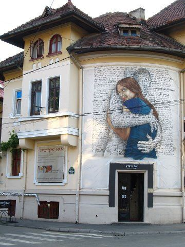 Street Art, Bucharest, Romania...would love to see this.