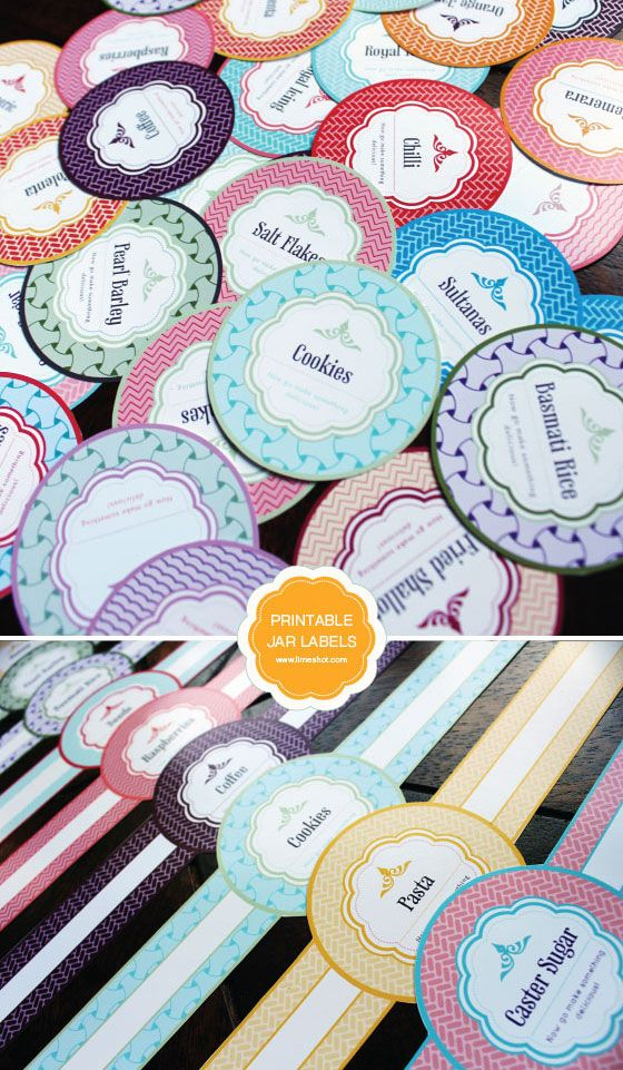 FREE PRINTABLE MASON JAR LABELS (via http://limeshot.com/2012/free-printable-mason-jar-labels) @limeshot
