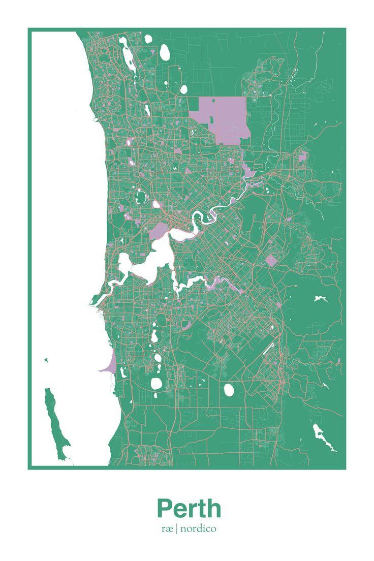Perth Australia Map Print 247 best Mapillust