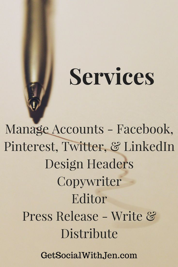 Get Social With Jen - Social Media Your Way - account management services #socialmedia #blogging #GetSocialWithJen