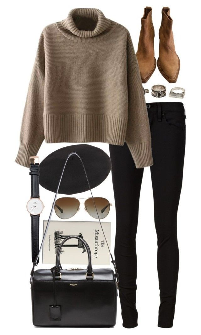 """Untitled #7911"" by nikka-phillips ❤ liked on Polyvore featuring Acne Studios, Charlotte Russe, rag & bone/JEAN, Coach, Chicnova Fashion, Yves Saint Laurent and Daniel Wellington:"