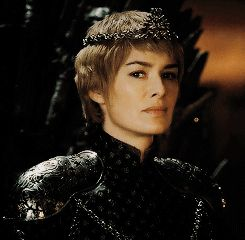 Cersei (6x10)looking at Jamie after her coronation