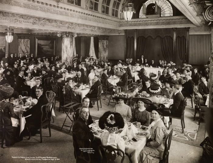 1910 Dining room King Edward Hotel
