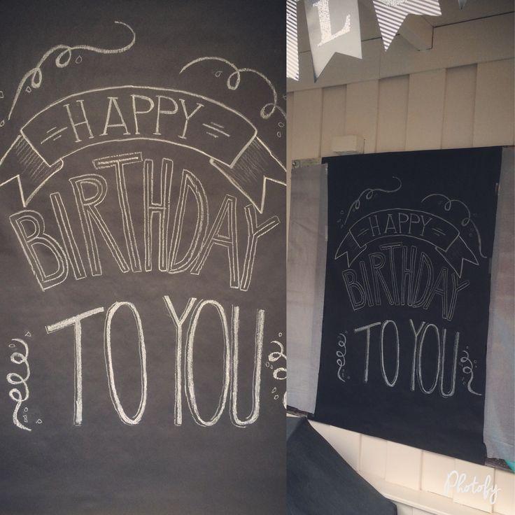 (Tuin)poster happy birthday