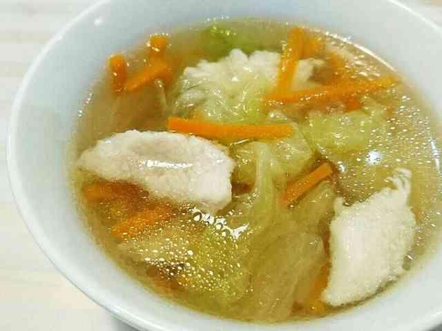 ささみとレタスの中華スープ◇ダイエットに by かっぱの親分
