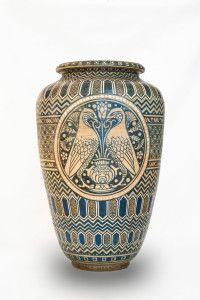 Borgo San Lorenzo - Museo Comunale della Manifattura Chini -  Grande vaso con falchi, Galileo Chini