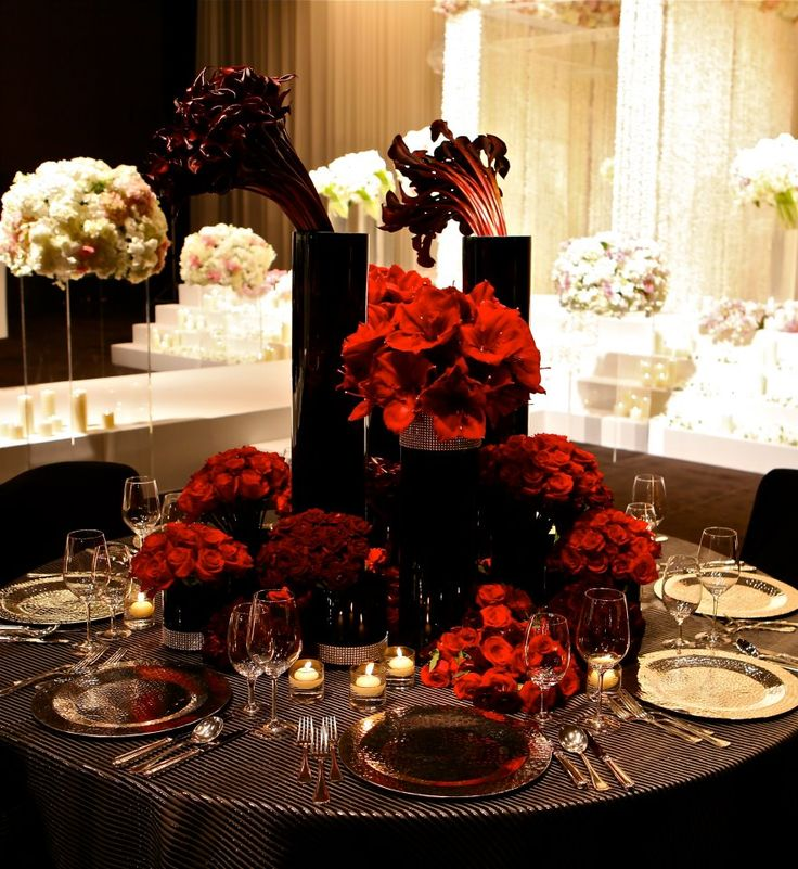 Ideas about burgundy floral centerpieces on