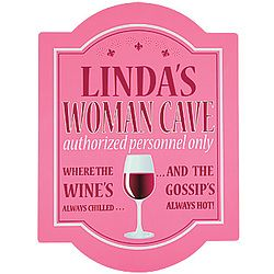 girl cave decor | Personalized Woman Cave Sign - Plaques/Wall Art - Decor - Lighterside