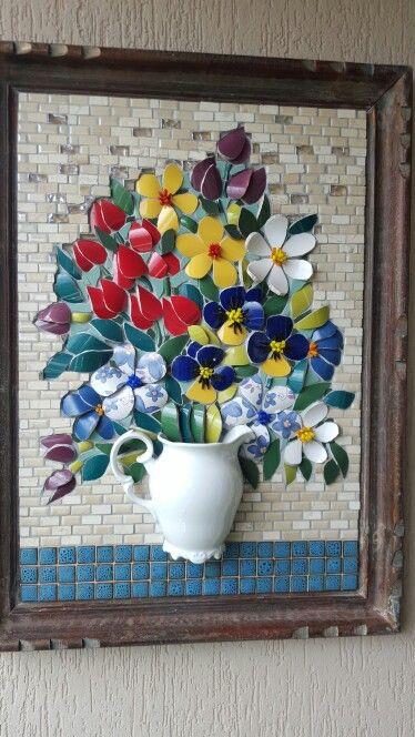 Mosaic dog by Solange Piffer ile ilgili görsel sonucu