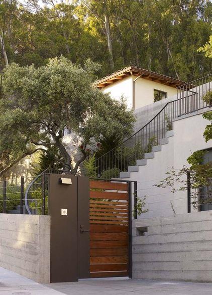 gate modern entry by Blasen Landscape Architecture