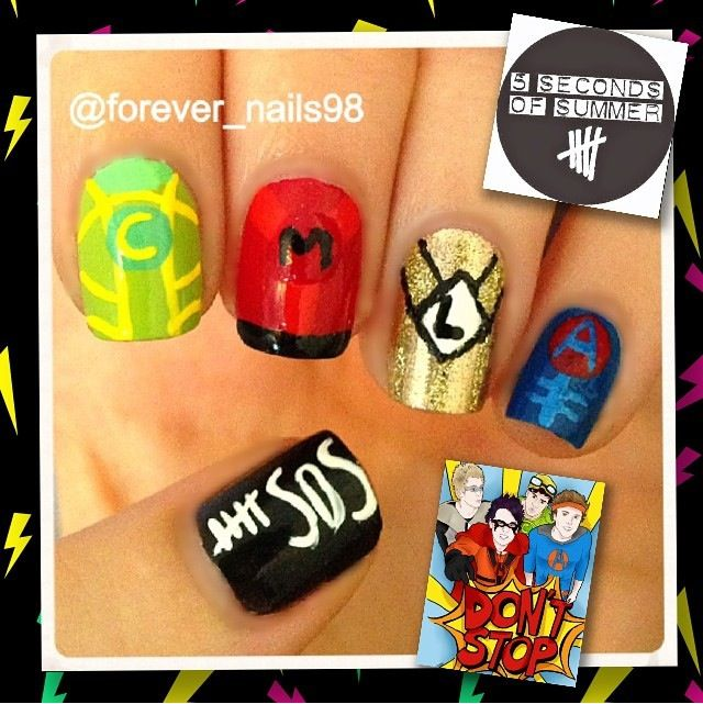 5 Seconds of Summer Nails #5sos