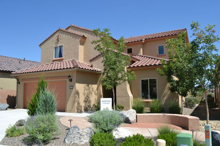 Model home at The Boulders in NW Albuquerque.