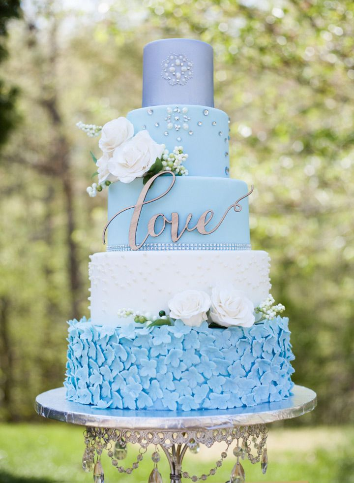 light blue wedding cakes light blue and gold wedding cake www imgkid the 16856
