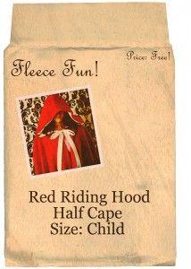 Rood kapje cape patroon