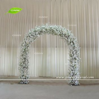 GNW FLA1609018 Customized Promotional Wholesale white cherry blossom wedding arch for sale