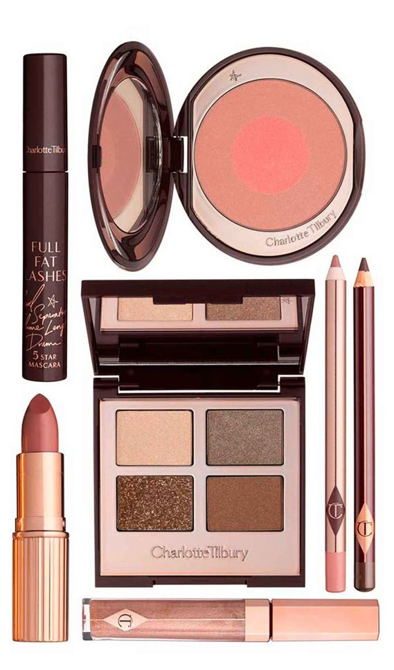 "for the prettiest natural makeup look try, ""The Golden Goddess"" set by Charlotte Tilbury"