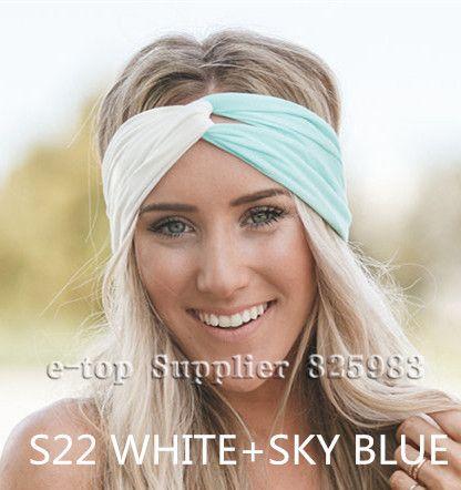 New Stretch Twist Turban Headband Sport Yoga Headbands