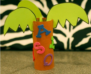 chicka chicka trees from toilet paper tubes