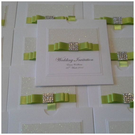 Luxury Handmade glitter and sparkle wedding invitation Crystal Envy sample