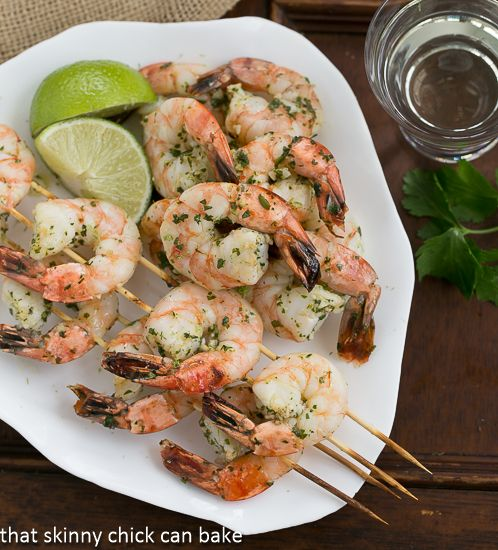 Margarita Shrimp // easy, delicious, low cal and packed full of protein #lowcarb