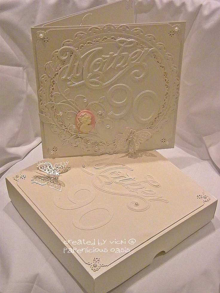 Card Making Ideas 90th Birthday Part - 42: Paperlicious Oasis. 90th Birthday CardsFemale ...