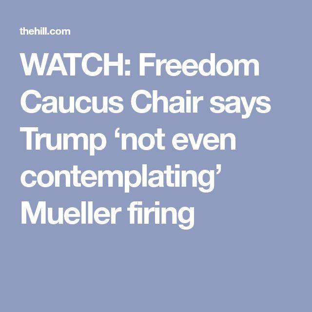 WATCH: Freedom Caucus Chair says Trump 'not even contemplating' Mueller firing
