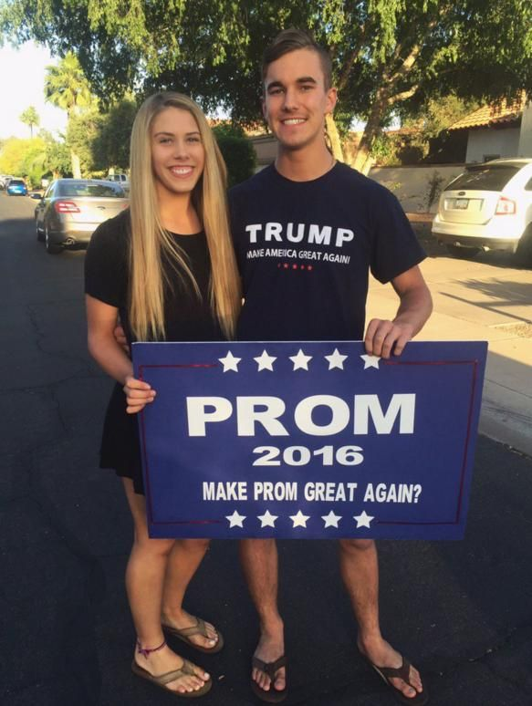 My Make America Great Again Prom Proposal! Hope you'll be giving her your stimulus package on prom night.   So many commies from my school district were flipping shit.  AZ fam  Don't forget to show...