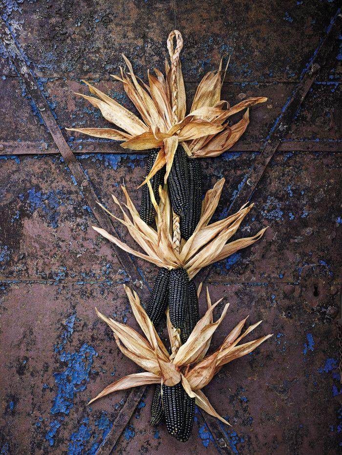 Dark Corn Stalk Decor-