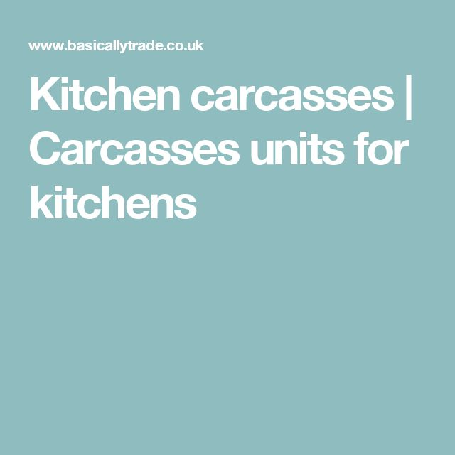 Kitchen carcasses | Carcasses units for kitchens