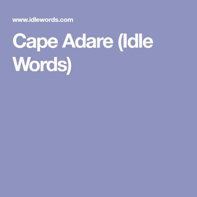 Cape Adare (Idle Words)