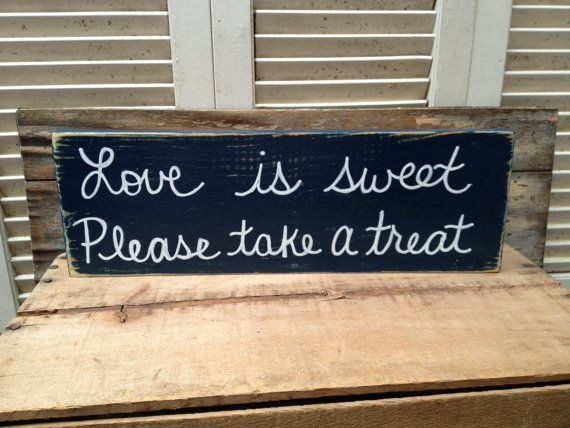 Distressed Navy Blue and White Love Is Sweet Please Take A Seat Wedding Sign Navy Blue Wedding Decor on Etsy, $12.00