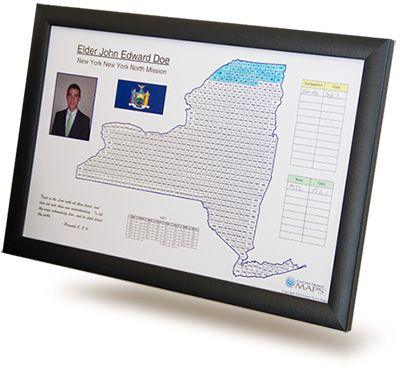 Get a missionary countdown calendar in the shape of your missionary's area for just $19.95!