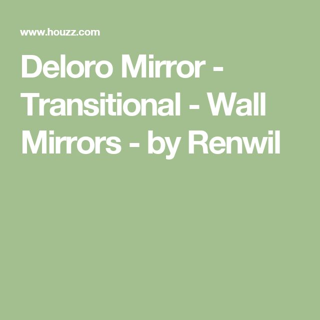 Deloro Mirror - Transitional - Wall Mirrors - by Renwil