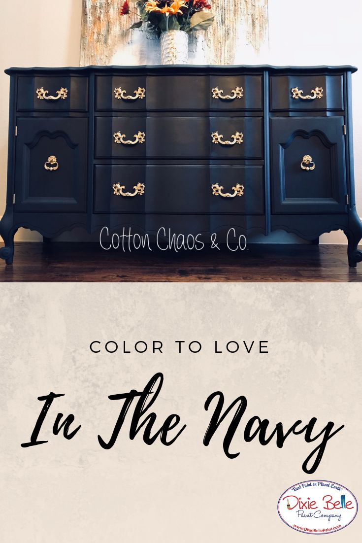 Use In The Navy Chalk Mineral Paint To Really Give Some