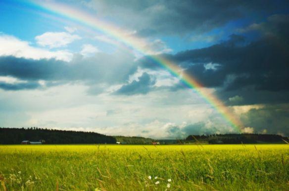 ¿Por qué sale el arco iris?