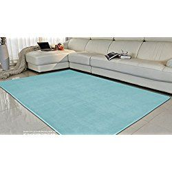 Adasmile Super Comfortable Anti-slip Area Rugs/Floor Mat/Cover Carpets with Small Amount of Memory Foam for Living Room/bedroom/Nursery/Teens/Home Decorate,Baby blue,2.6Ftx4Ft