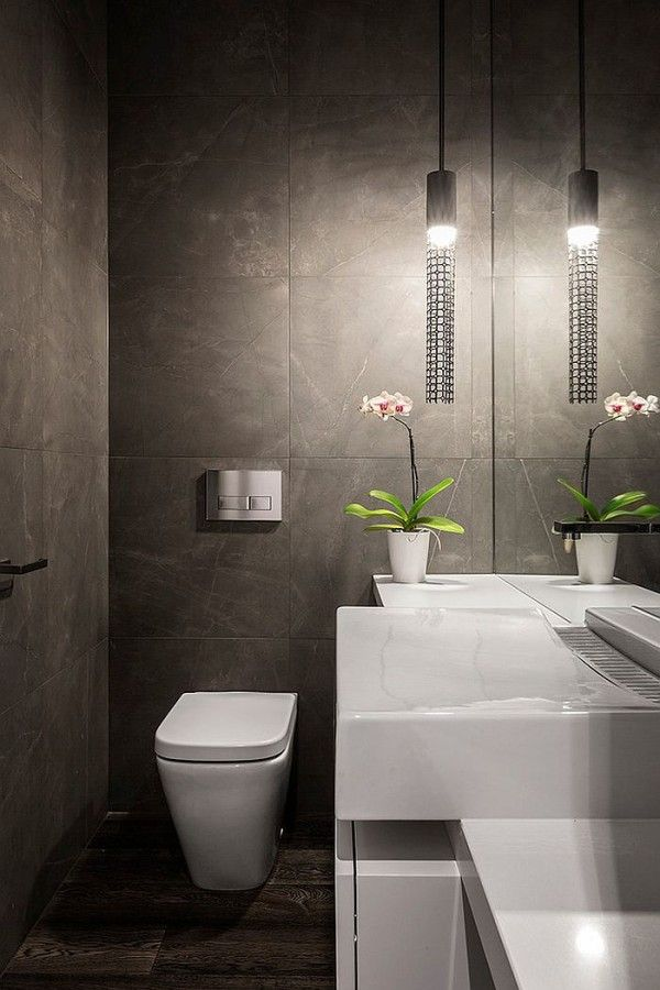 Smart lighting choice for the contemporary powder room